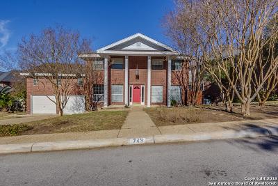 San Antonio Single Family Home New: 743 Stoneway Dr