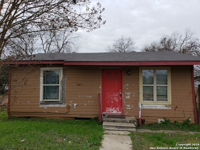 San Antonio Single Family Home Active Option: 354 Sterling Dr