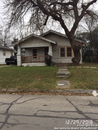San Antonio Single Family Home For Sale: 1343 Center St