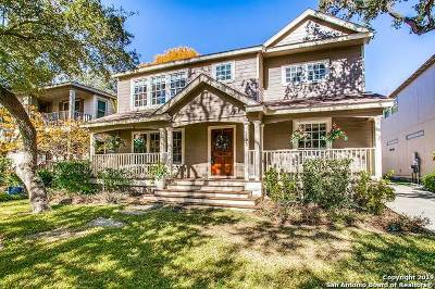 Alamo Heights Single Family Home For Sale: 253 Castano Ave