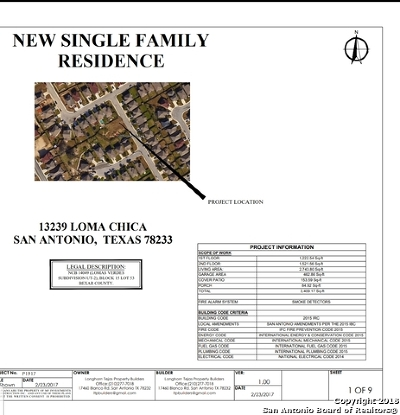 Single Family Home For Sale: 13239 Loma Chica