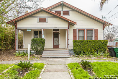 San Antonio Single Family Home New: 1618 Palmetto