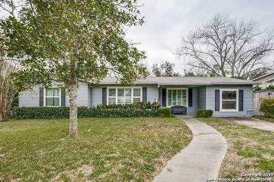 Terrell Hills TX Single Family Home Active Option: $369,000