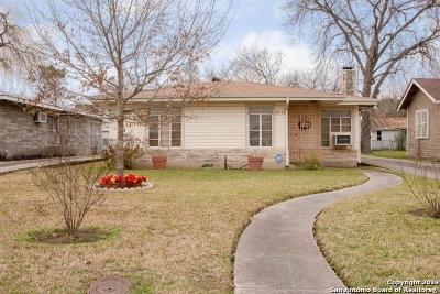 San Antonio Single Family Home New: 1614 Texas Ave