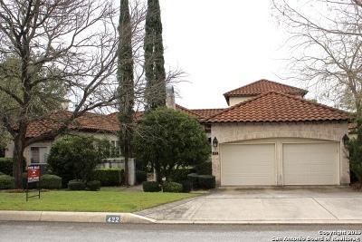 San Antonio Single Family Home Active Option: 422 Cameron Circle