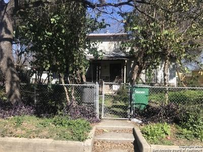 San Antonio Single Family Home For Sale: 1431 Delgado St