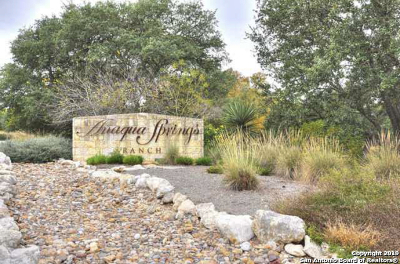 Boerne Residential Lots & Land New: 25006 Caliza Cove