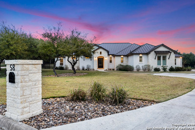 Bexar County, Kendall County Single Family Home New: 58 Brook Rdg