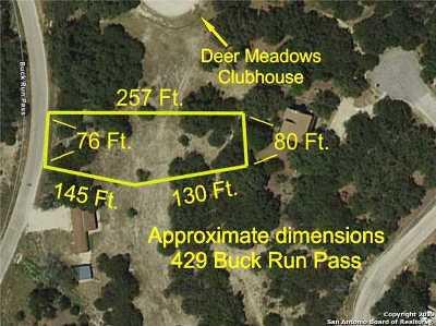 Canyon Lake Residential Lots & Land New: 429 Buck Run Pass