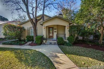 Alamo Heights Single Family Home Price Change: 120 Tuxedo Ave