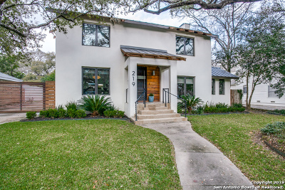 Alamo Heights Single Family Home Active Option: 219 Tuxedo Ave