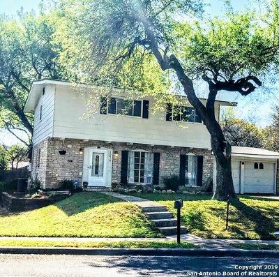 San Antonio Single Family Home New: 10419 Tioga Dr