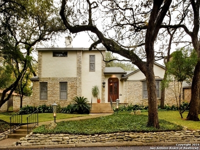 Alamo Heights Single Family Home For Sale: 630 Castano Ave
