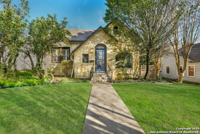 Alamo Heights Single Family Home For Sale: 305 Wildrose Ave