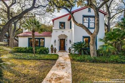 Alamo Heights Single Family Home For Sale: 320 Castano Ave