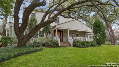 Alamo Heights Single Family Home For Sale: 142 Kennedy Ave