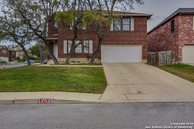 Bexar County Single Family Home Price Change: 12035 Golden Rush
