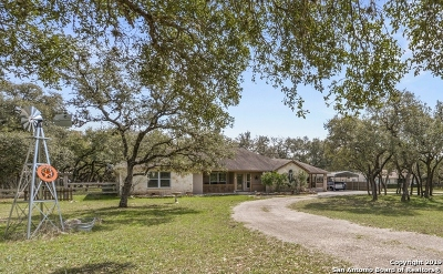 Bulverde Single Family Home Active Option: 30720 Smithson Valley Rd