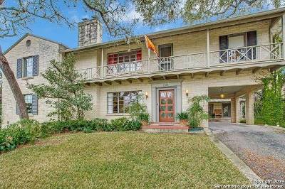 Alamo Heights Single Family Home For Sale: 222 Cloverleaf Ave