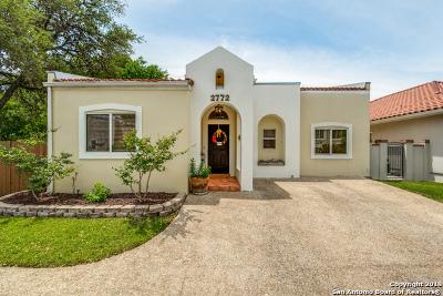San Antonio Single Family Home Active Option: 2772 Del Pilar Dr