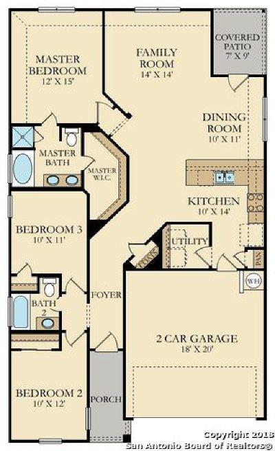 San Antonio Single Family Home New: 9839 Marbach Pass