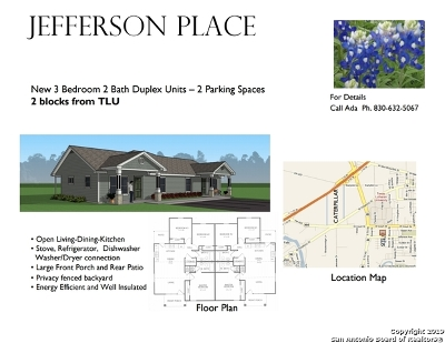 Guadalupe County Multi Family Home For Sale: 1237 Jefferson Ave