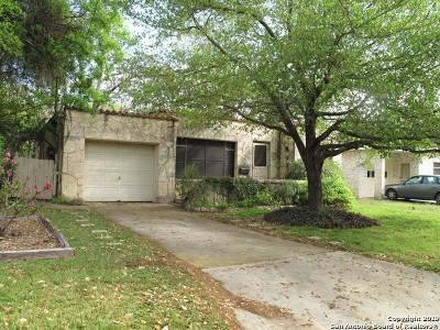 San Antonio Single Family Home New: 1109 Vanderbilt St