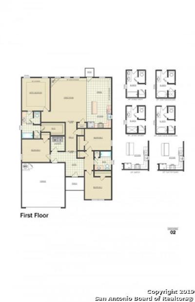 Converse Single Family Home New: 7407 Sandy Bay