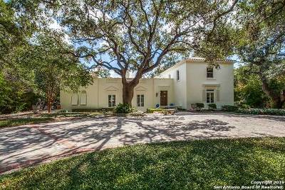 Alamo Heights Single Family Home For Sale: 215 Encino Ave