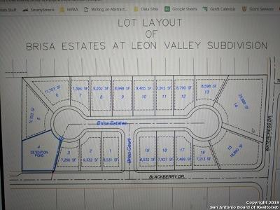 Leon Valley Residential Lots & Land Active Option: 5306 Brisa Estate