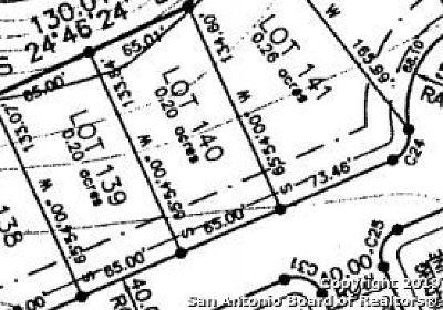 Boerne Residential Lots & Land For Sale: Lot 140 Preston Trl