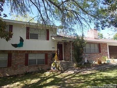 Kerrville Single Family Home Active Option: 106 Poco Vista Dr S