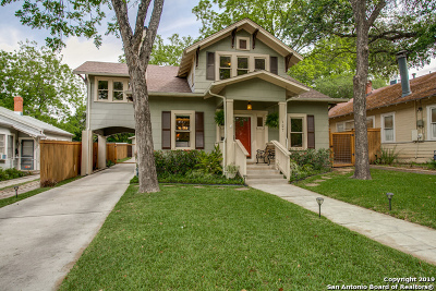 Alamo Heights Single Family Home Active Option: 127 Corona Ave