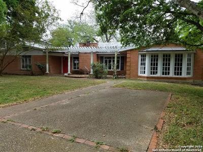 Terrell Hills Single Family Home New: 804 Morningside Dr