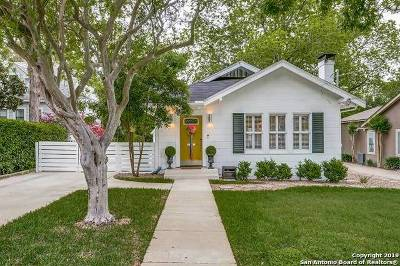 Alamo Heights Single Family Home Price Change: 122 Lamont Ave