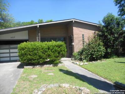 San Antonio Single Family Home New: 407 E Crestline Dr