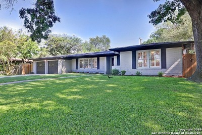 San Antonio Single Family Home Price Change: 215 Tophill Rd