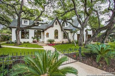 Alamo Heights Single Family Home Active Option: 225 Castano Ave
