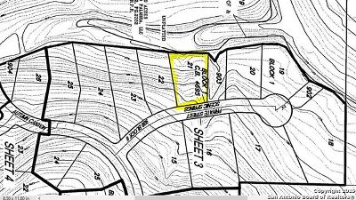 San Antonio Residential Lots & Land New: 23911 Scenic Springs