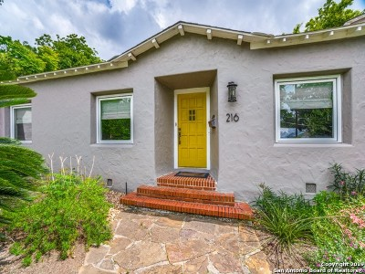Alamo Heights Single Family Home For Sale: 216 Inslee Ave