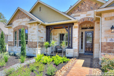 Boerne Single Family Home New: 113 Kingston Court