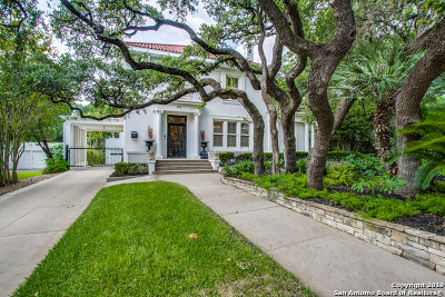 San Antonio Single Family Home Price Change: 151 E Elsmere Pl