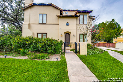 Alamo Heights Single Family Home For Sale: 172 Katherine Ct #3