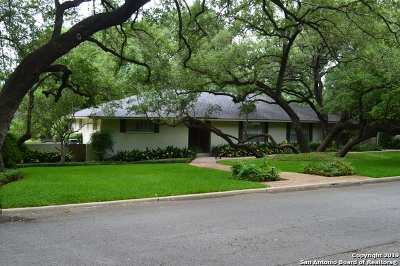 Alamo Heights Single Family Home Active Option: 100 Cardinal Ave