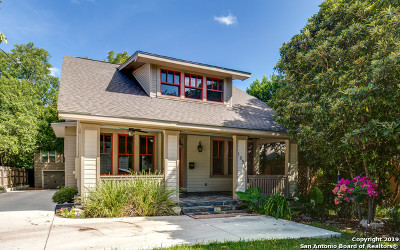 Alamo Heights Single Family Home For Sale: 105 Routt St