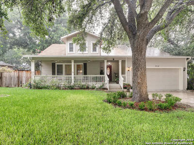 Alamo Heights Single Family Home For Sale: 615 Imlay St