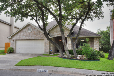 Stone Oak Single Family Home Active Option: 22026 Pelican Edge