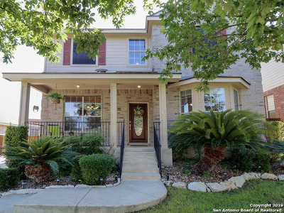 San Antonio Single Family Home New: 22846 San Saba Bluff