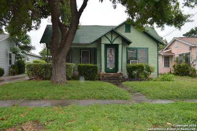 San Antonio Single Family Home New: 1706 Texas Ave