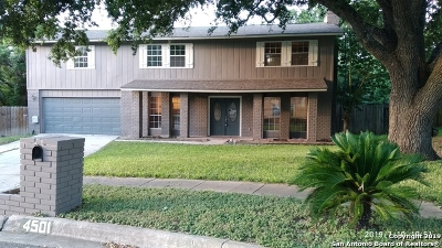 San Antonio Single Family Home Back on Market: 4501 Buckmoor St